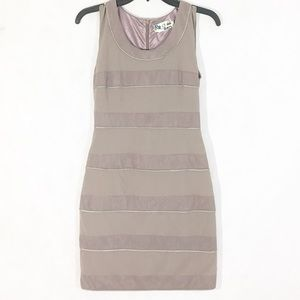 C. Luce Taupe Sleeveless Bandage Dress Size S